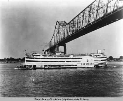 Steamer SS President in 1970
