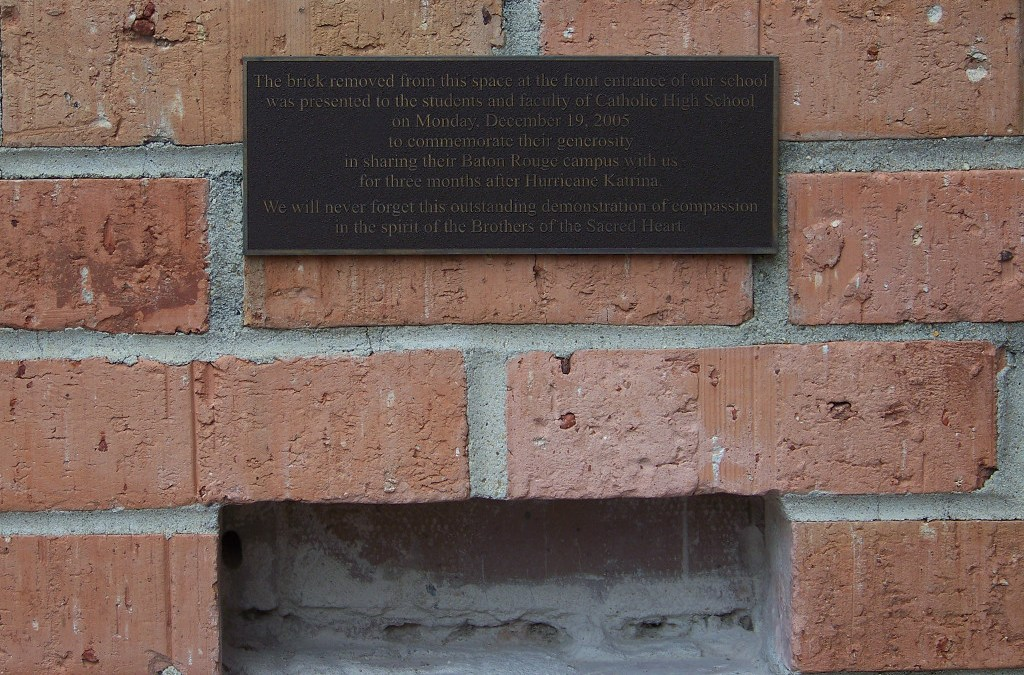 """""""The Brick"""" from Brother Martin given to Catholic High in Baton Rouge"""