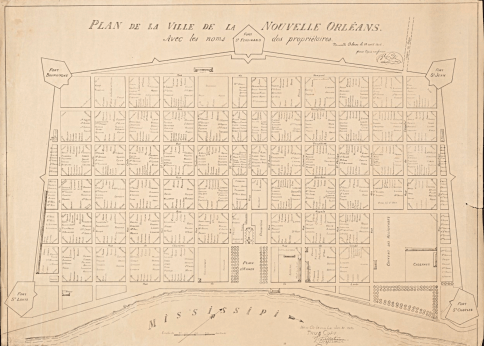 French Quarter Map 1808