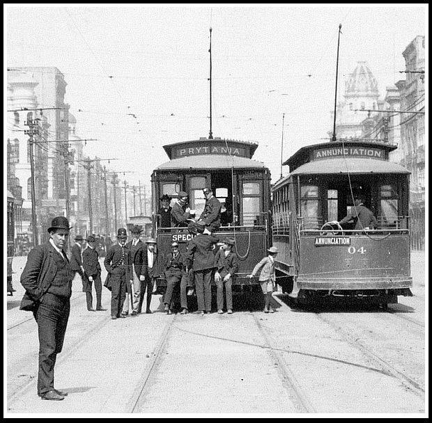 Single-truck Streetcars on Canal Street, 1905 #streetcarmonday
