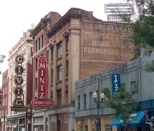 Downtown Signs – 500 Block Baronne is a treasure trove #FadingSigns