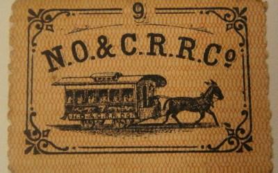 Streetcar Ticket – New Orleans & Carrollton Railroad 1868