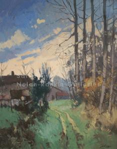 Hiver Lavincourt NR3930 30 Figure: 36.25 x 28.75 in. Jose Salvaggio Oil on Canvas