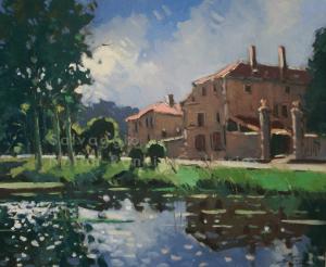 Morley Contre Jour NR394215 Figure: 25.5625 x 21.25 in. Jose Salvaggio Oil on Canvas