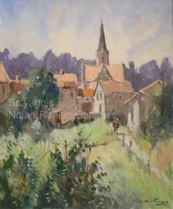 NR3342 Vecqueville   Salvaggio Oil on Canvas   Nolan-Rankin Galleries - Houston