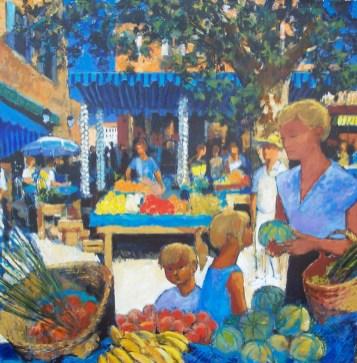 sur le petit Marche d'Aix en Provence | Pierre Neveu | Nolan-Rankin Galleries - Houston