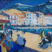Sur le port de Cassis | Pierre Neveu | Nolan-Rankin Galleries - Houston