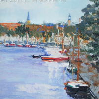 NR5480 La ville d'hoorn en hollande 10 Figure: 21.625 x 18.125 inches Renée THÉOBALD Nolan-Rankin Galleries - Houston