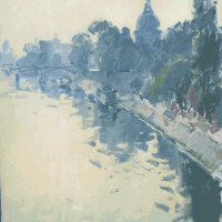 Bord de Seine a Paris | Paul Jean Anderbouhr | Nolan-Rankin Galleries - Houston