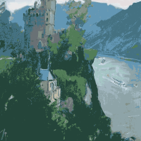 Vieus Chateau au bord du Rhin | Paul Anderbouhr | Nolan-Rankin Galleries - Houston