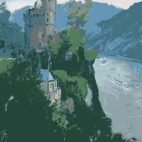 Vieus Chateau au bord du Rhin | Paul Anderbouhr | Nolan-Rankin Galleries - Houston