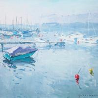 Matin au bord du lac - Geneve | Paul Jean Anderbouhr | Nolan-Rankin Galleries - Houston