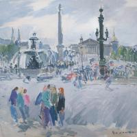 Dimanche matin a la Place de la Concorde | Paul Jean Anderbouhr | Nolan-Rankin Galleries - Houston