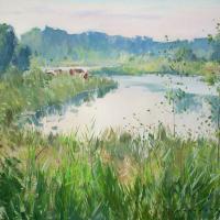 Etang en Seine et Marne | Paul Jean Anderbouhr | Nolan-Rankin Galleries - Houston