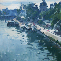 Bord de la Seine et l'Institute | Paul Jean Anderbouhr | Nolan-Rankin Galleries - Houston