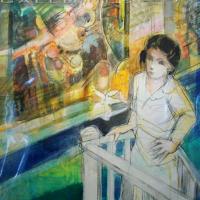 original mixed media on paper | Le Balcon | Paul Ambille | Nolan-Rankin Galleries - Houston