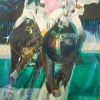 lithograph | Polo | Paul Ambille | Nolan-Rankin Galleries - Houston