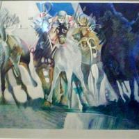 lithograph | Le depart | Paul Ambille | Nolan-Rankin Galleries - Houston