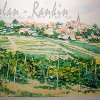 lithograph | Les Vigne en Alsace | Renee Theobald | Nolan-Rankin Galleries - Houston