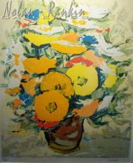 lithograph | Bouquet Orange | Renee Theobald | Nolan-Rankin Galleries - Houston