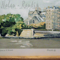 lithograph | Notre Dame | Renee Theobald | Nolan-Rankin Galleries - Houston
