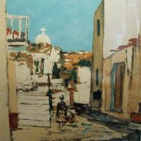 lithograph | Ruelle au soleil | Renee Theobald | Nolan-Rankin Galleries - Houston