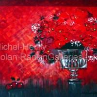 "La Coupe Rouge | NR2651 | 8 Figure: 18.25"" x 14.75"" | Michel-Henry | Oil on Canvas | Nolan-Rankin Galleries - Houston"
