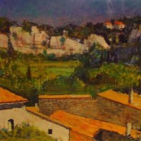 "La Beaume   NR3181   12 paysage: 24"" x 18.25""   Pierre Neveu   Oil on Canvas   Nolan-Rankin Galleries - Houston"