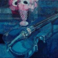 """Violon Bleu NR0854 4 Figure: 13"""" x 9.5"""" Paul Ambille Oil on Canvas"""