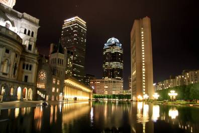 Christian Science Church reflecting pool