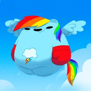 Rainbow Dash Panda