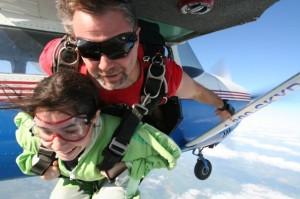 Liz skydiving