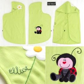 Manta-capa personalizada para el bebé Elliot