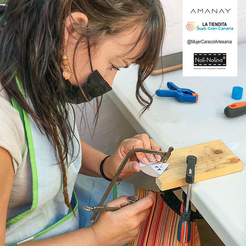 Iniciación a la joyería en metal AMANAY MujerCaracolArtesania