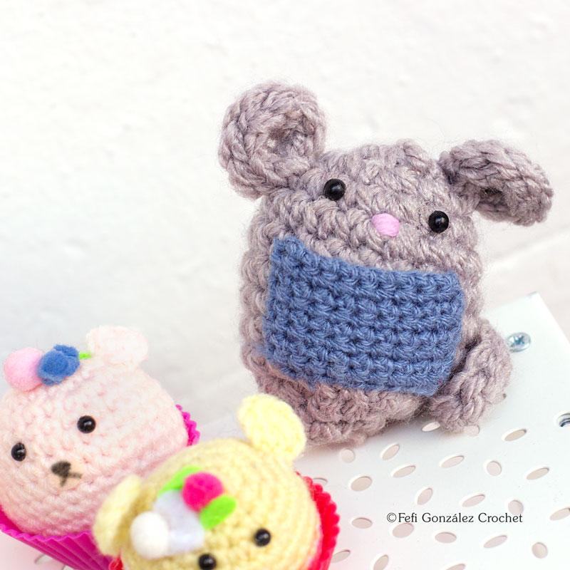 Ratoncito Pérez hecho de Amigurumi por Fefi González Crochet