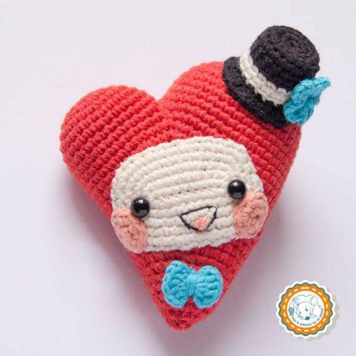 Hướng dẫn móc len hình trái tim tặng bạn trai ngày Valentine