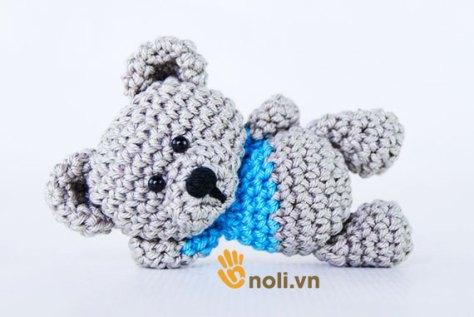 Hướng dẫn móc gấu teddy bằng len sợi