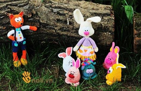 Hướng dẫn móc thỏ phục sinh làm đồ chơi cho bé