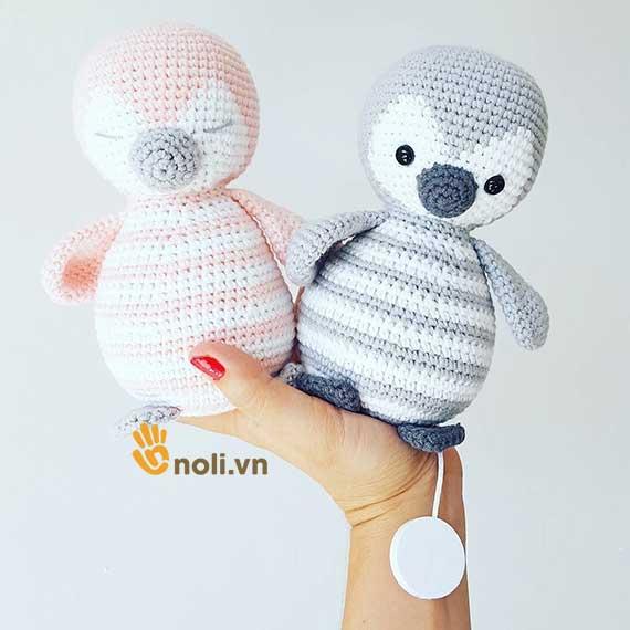 [Chart móc len] Xắn tay móc ngay chú chim cánh cụt đáng yêu làm đồ chơi cho bé