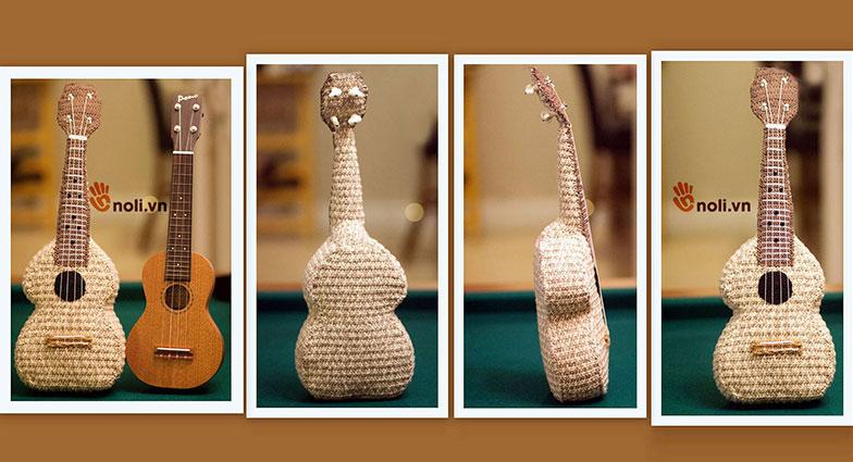 Tự tay móc chiếc đàn guitar bằng len sợi mà ai cũng thích