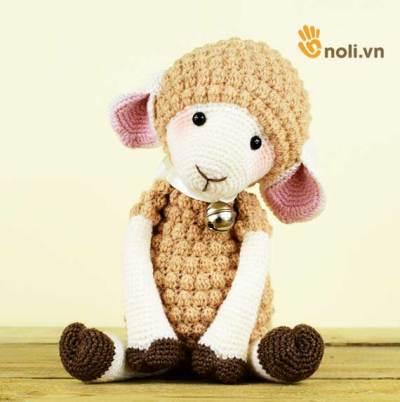 Học cách móc bé cừu đeo chuông xinh xắn