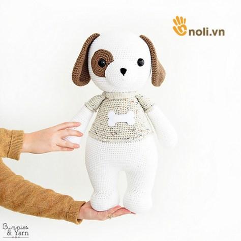 Đừng bỏ lỡ chart móc chú cún khổng lồ của nhà thiết kế Bunnies and Yarn
