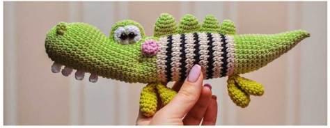 Hướng dẫn móc mẫu cá sấu