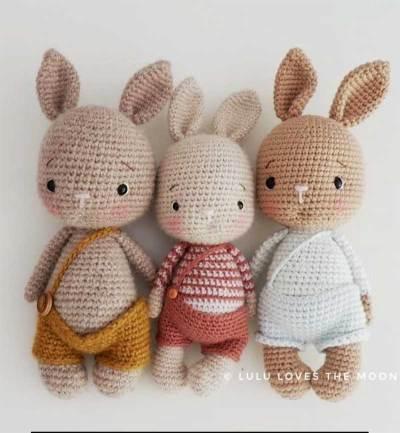 Hướng dẫn móc mẫu thỏ xinh