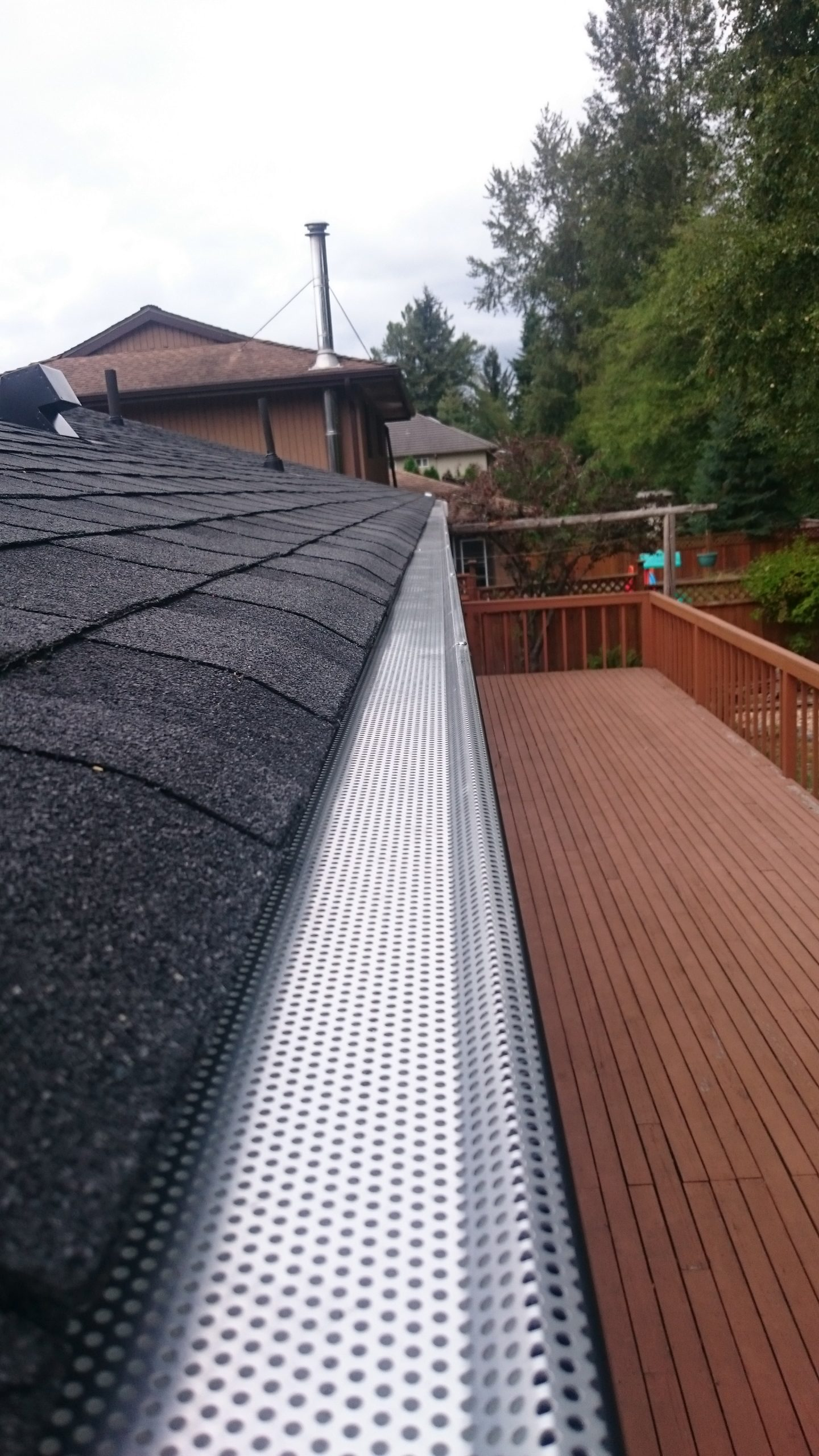 gutter gaurds on house