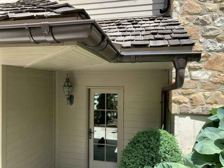 half round gutters and downpipes