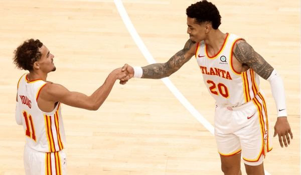 Hawks starters Trae Young and John Collins
