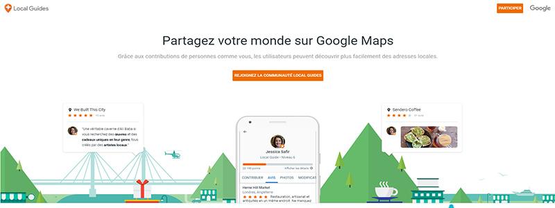 entonnoir de conversion-Exemple Google Local Guide