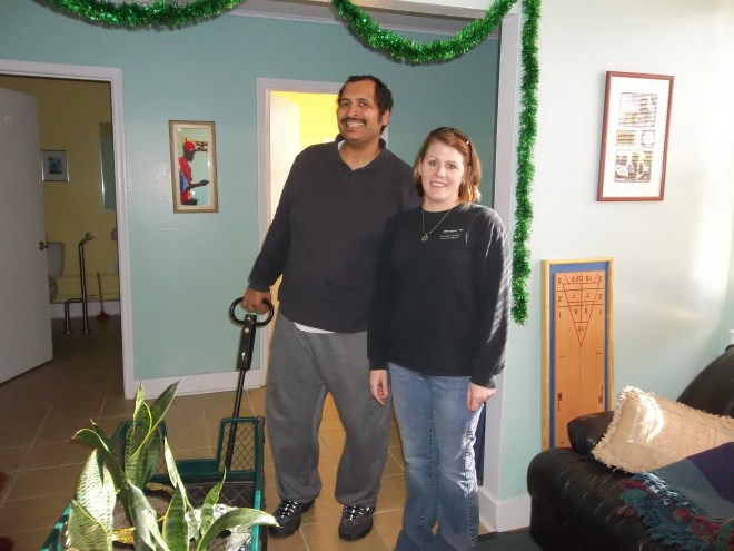 Suzie and Zel going to G.F. Horne to donate plants!