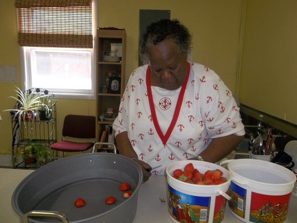 "We have so many strawberries that we cut them up and froze some!  ""Maybe for strawberry pie or on our icecream!""- Beth"